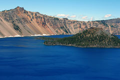 Crater Lake, Wizard Island Stock Images