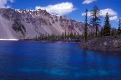 Crater Lake from Wizard Island Stock Photos