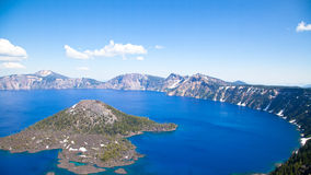 Crater lake - Wizard island Stock Photo