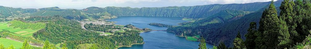 Crater Lakes Stock Photo
