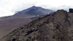 Crater landscape from Etna mountain Stock Image