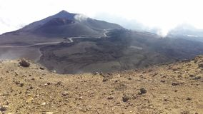 Crater landscape from Etna mountain royalty free stock images