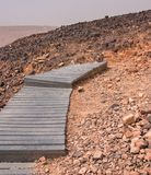 Crater Mizpe Ramon - Negev desert Stock Images