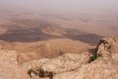 Crater Mizpe Ramon - Negev desert Stock Photo