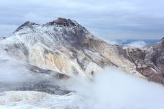 Crater of Mount Aragats, northern summit, at 4,090 m , Armenia royalty free stock photography