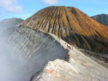 Crater of Mount Bromo Stock Photo