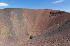 Crater of Mount Etna at Italian island Sicily stock image