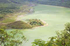 Crater of mount galunggung stock images