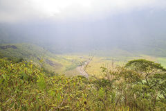 Crater of mount galunggung royalty free stock photography
