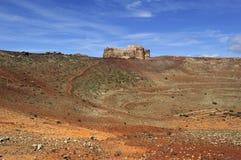Crater of Mount Guanapay and Castillo de Santa Barbara, Lanzarot Stock Photo