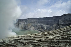 The crater from Mount Idjen Stock Image
