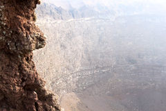 Crater of mount Vesuvius, Naples, Italy Stock Photos