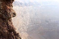 Crater of mount Vesuvius, Naples, Italy stock photos