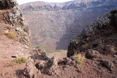 Crater in the mount Vesuvius, Naples, Italy royalty free stock photography