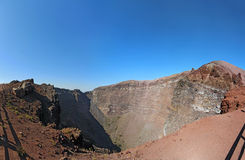 The crater of Mount Vesuvius near Naples, Italy Stock Image