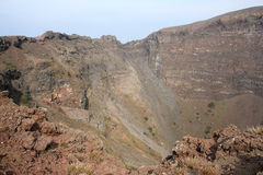 Crater in the mount Vesuvius near Naples, Italy stock photography