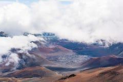 The crater of Mt Haleakala stock photos