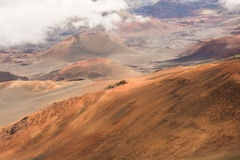 The crater of Mt Haleakala stock images