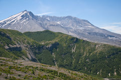 The crater of Mt St Helens at a sunny day. The crater of Mt St Helens volcano with snow cover at a sunny day Stock Photography
