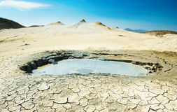 Crater of a mud volcano Stock Photo