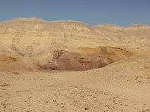 Crater in Negev desert Royalty Free Stock Photos
