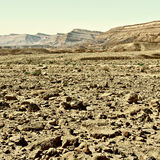 Crater in Negev Royalty Free Stock Photography