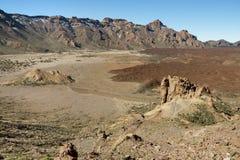 Crater next to volcano Teide. Stock Photo
