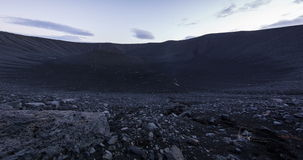 Crater pan in Iceland stock video footage
