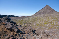 The crater of Pico Mountain in Pico Island - Azore Royalty Free Stock Images