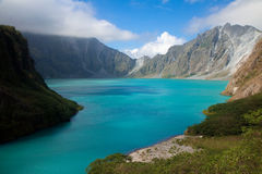 Crater of the Pinatubo volcano Stock Photo
