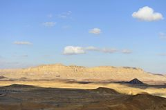 Crater Ramon landscape in Negev desert. Stock Photo