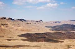 Crater Ramon in Negev desert. Stock Photo