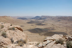 Crater Ramon in Negev desert. Royalty Free Stock Photo