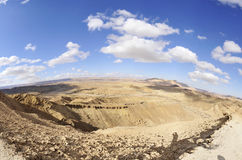 Crater Ramon panorama, Israel Royalty Free Stock Photo