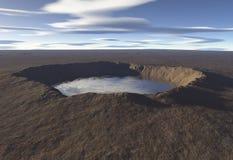 Crater See Stockbild