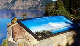 Crater See, Nationalpark, Oregon, Vereinigte Staaten Lizenzfreie Stockfotos