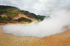 Crater Sikidang royalty free stock photography