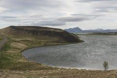 Skútustaðagígar Crater stock image