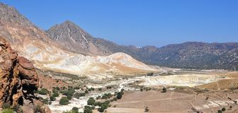 Crater Stefanos on island Nissyros Royalty Free Stock Images