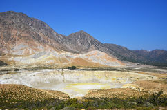 Crater Stefanos on island Nissyros Stock Image