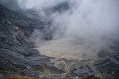 Crater of Tangkuban Perahu in Bandung, Indonesia. The crater of Tangkuban Perahu in Bandung, Indonesia stock photo