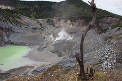 Crater of Tangkuban Perahu. Bandung in Jawa, Royalty Free Stock Images