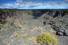 Crater trail in Hawaii Stock Photography