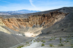 Crater Ubehebe. Volcanic crater Ubehebe in Death Valley in California Stock Photo