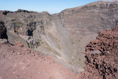 Crater of Vesuvius Royalty Free Stock Photography