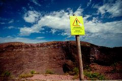 Crater of Vesuvius volcano Royalty Free Stock Photo