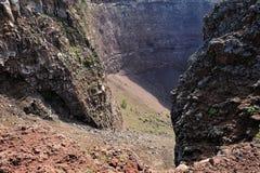 Crater of Vesuvius Stock Photo
