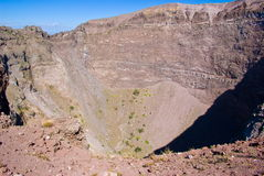 Crater of Vesuvius Stock Photography