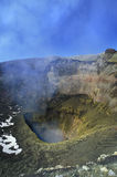 Crater of the Villarica volcano. Royalty Free Stock Photography