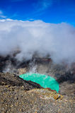 Crater of Volcan Santa Ana, Cerro Verde National Park, El Salvad Stock Photos